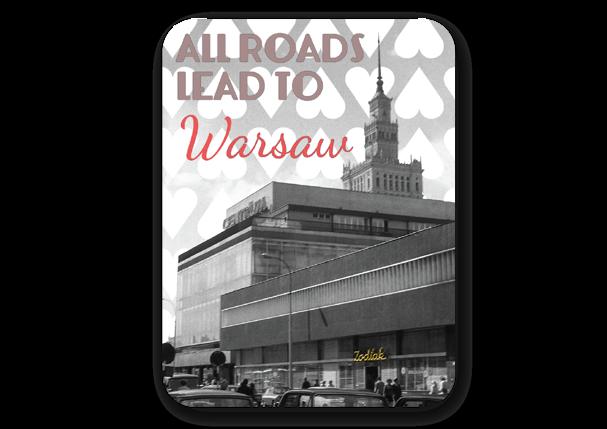 MAGNES CZASY PRL-U ZODIAK ALL ROADS LEAD TO WARSAW